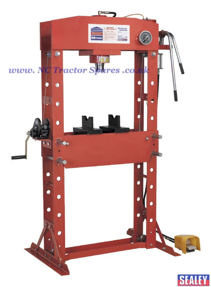 Air/Hydraulic Press 50tonne Floor Type with Foot Pedal